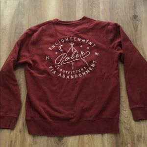 Poker enlightenment dark red crewneck sweatshirt